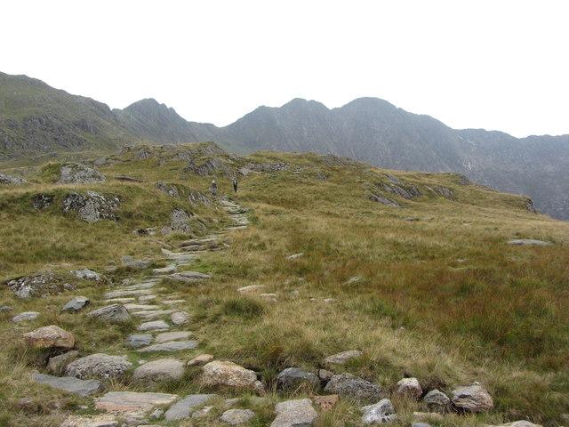 Looking back along the footpath from Y Lliwedd