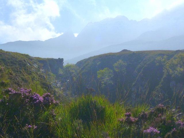 Ravine at the head of North Glen Sannox