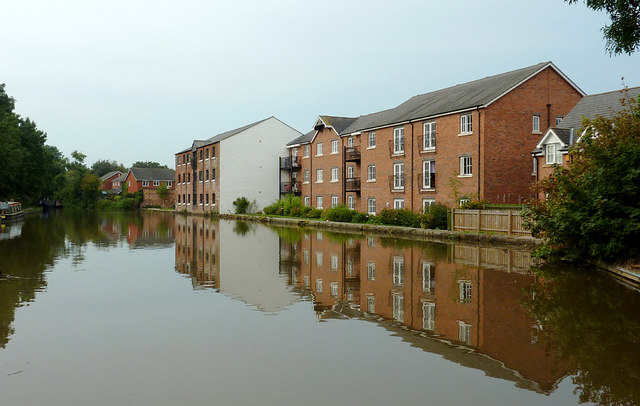 Canalside apartments at Congleton, Cheshire