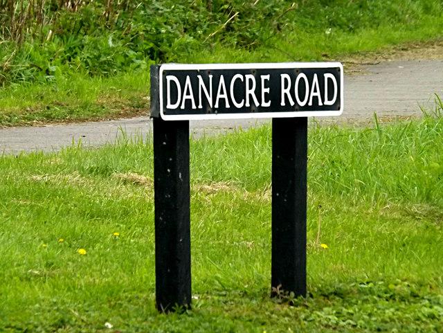 Danacre Road sign