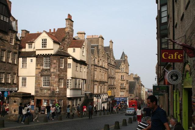 Edinburgh:  High Street:  Looking east