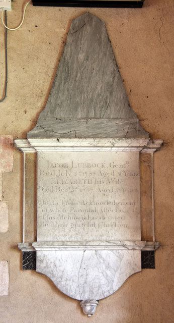 St Andrew, Congham - Wall monument