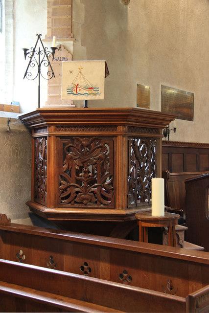 St Andrew, Congham - Pulpit