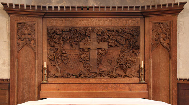 St Andrew, Congham - Reredos