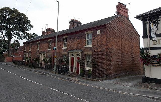 Former Trinity Terrace in Oswestry