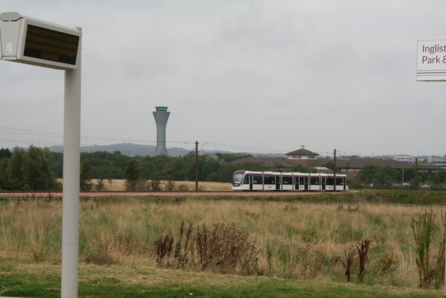 Ingliston:  Tram towards Airport