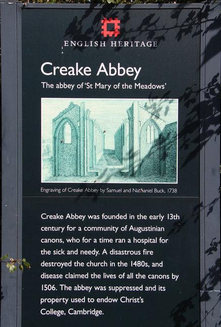 Creake Abbey ruin info