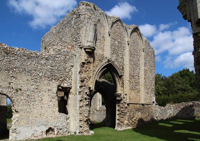 Creake Abbey, North Creake - ruin