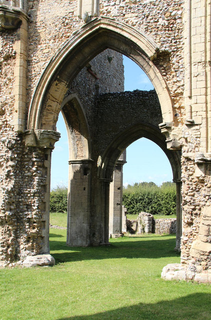 Creake Abbey, North Creake - ruin