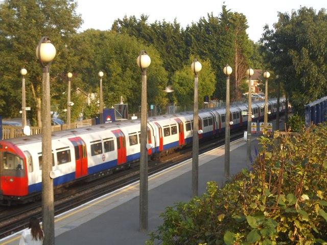 Train leaving Sudbury Town Station