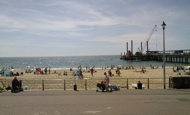 Boscombe Beach and Pier