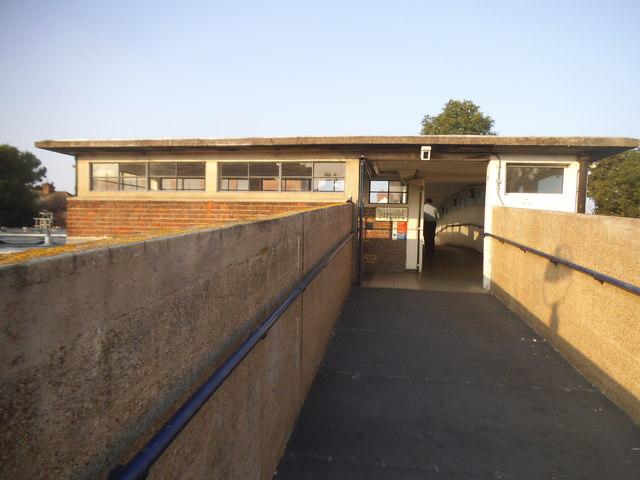 Footbridge through Sudbury Town Station
