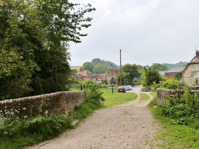 Footbridge over the River Lavant, West Dean, West Sussex