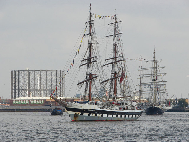 Tallships gathering in the Thames
