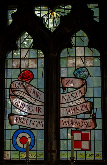 Stained glass window, All Saints' church, Faldingworth
