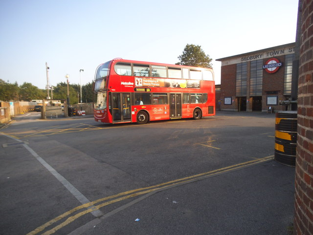 204 bus at Sudbury Town Station