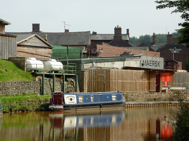 Light canalside industry near Kidsgrove, Staffordshire