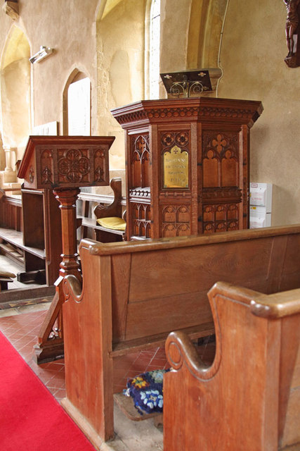 All Saints, Sharrington - Pulpit