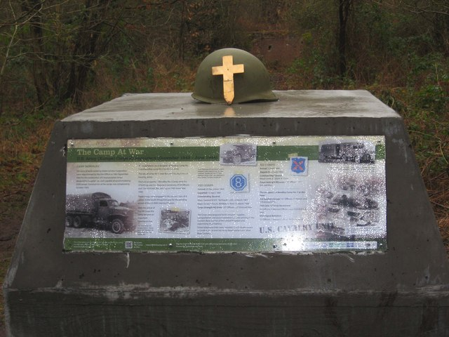Burlish Camp Project - commemorative block - close-up (March 2013), near Stourport-on-Severn