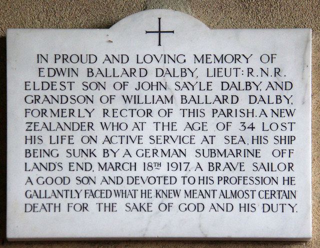 All Saints, Sharrington - Wall monument WWI
