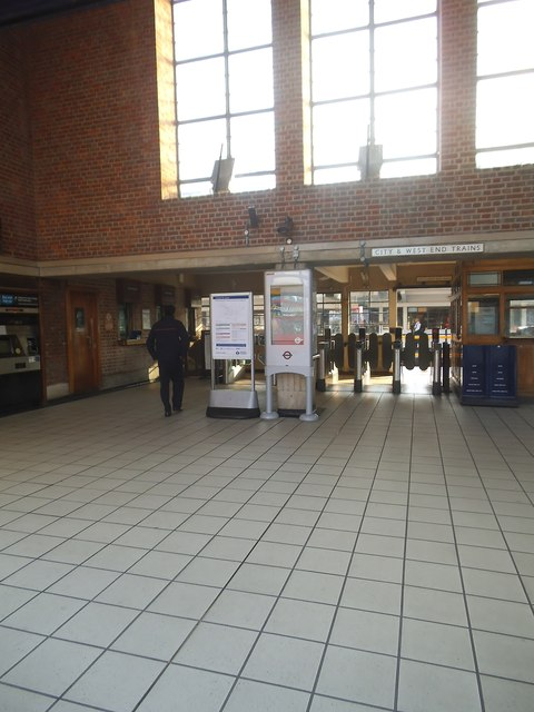The ticket barrier at Sudbury Town Station