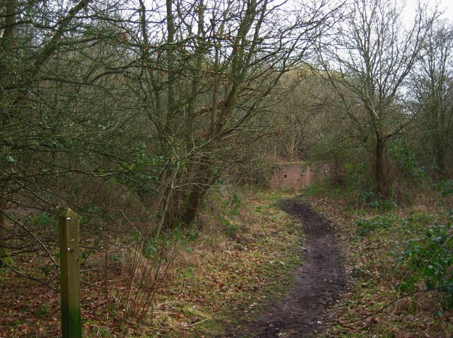 Footpath & remains of former US Army Camp, Burlish Top, near Stourport-on-Severn