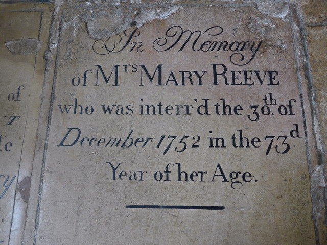 St Mary, Melton Mowbray: ledger slab (i)