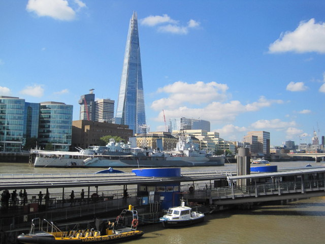 HMS Belfast, The Shard and the River Thames