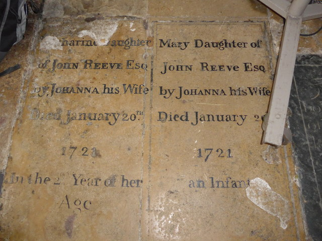 St Mary, Melton Mowbray: ledger slab (ii)