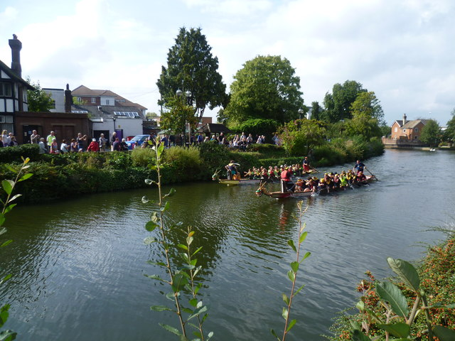 Dragon Boat Racing on the River Medway at Tonbridge
