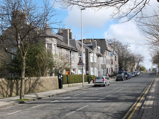 Looking up Whinhill Road, Aberdeen