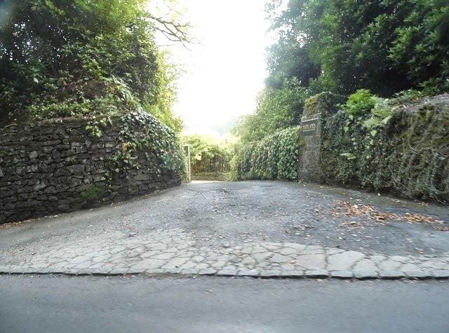 The entrance to Marylands on Ride Way, Ewhurst