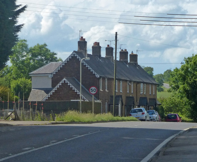 Cottages on the A47 Uppingham Road in Tugby