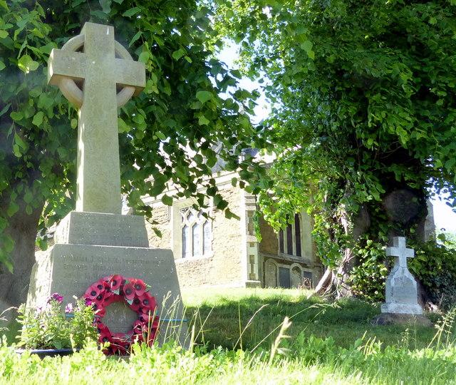 War memorial in Tugby