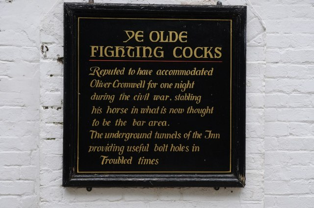 Plaque on Ye Olde Fighting Cocks