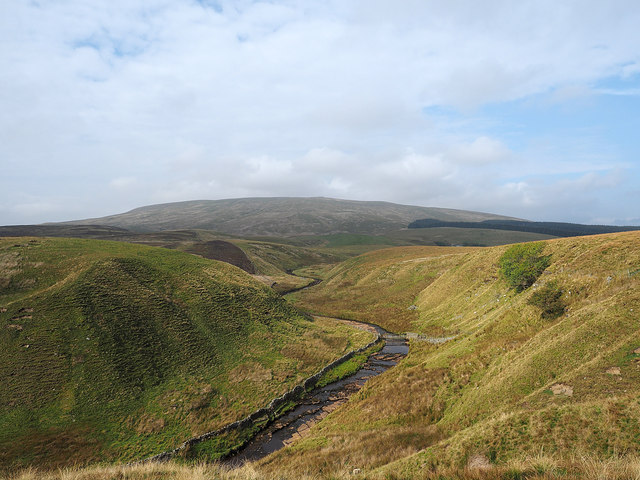 River valley with Baugh Fell beyond