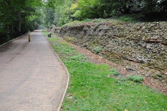 Roman wall, St Albans