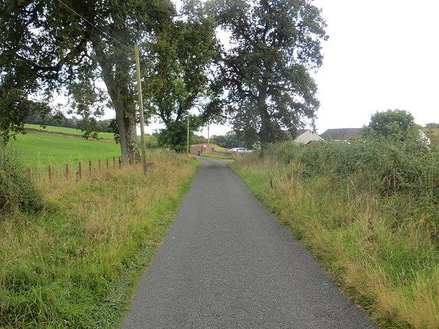 Lane passing Mote Cottage