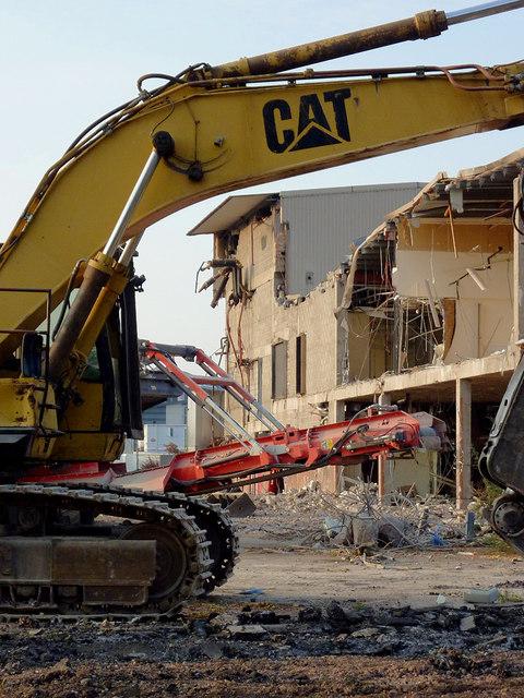 Demolition in Etruria, Stoke-on-Trent