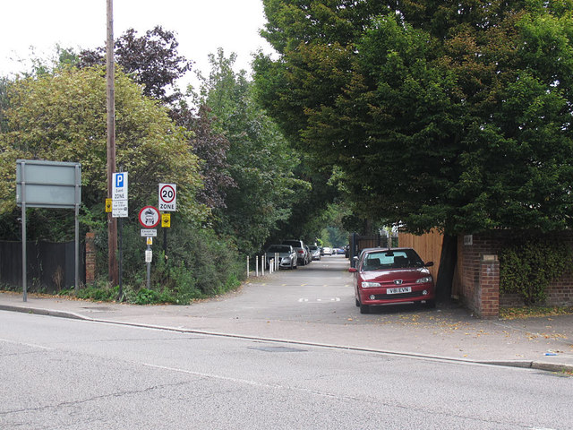 Langton Way, looking east
