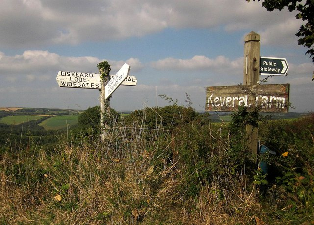 Signposts near Penhale Farm