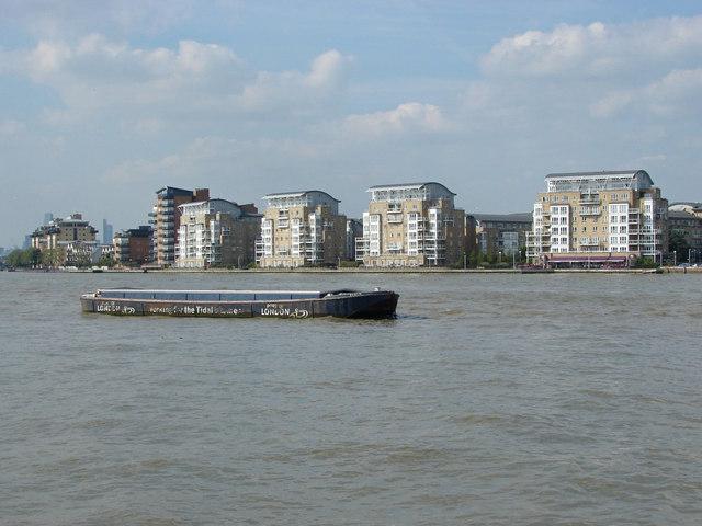 Thames river barge