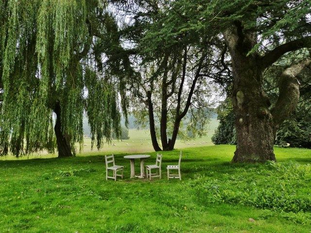 Picnic spot in the grounds of West Dean College