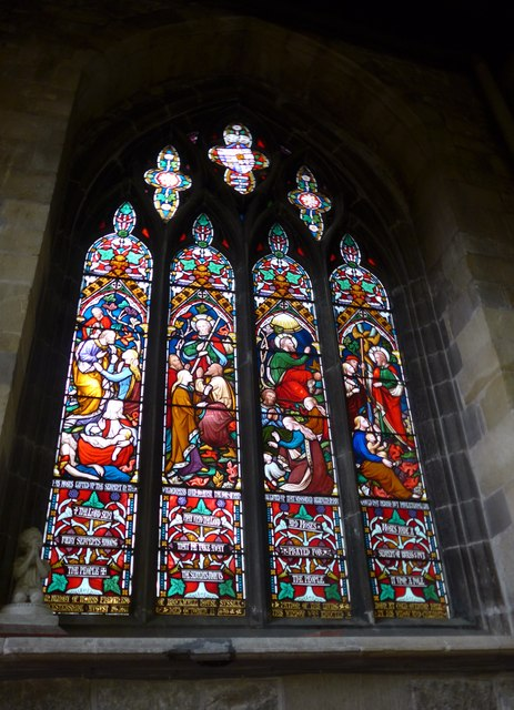 St Mary, Melton Mowbray: stained glass window (A)