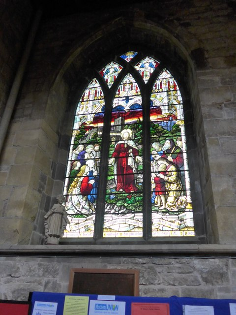 St Mary, Melton Mowbray: stained glass window (B)