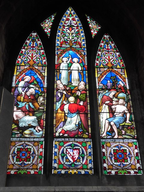St Mary, Melton Mowbray: stained glass window (C)