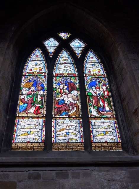 St Mary, Melton Mowbray: stained glass window (F)