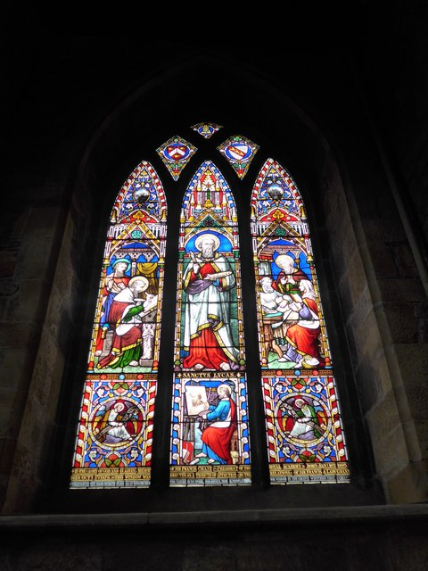 St Mary, Melton Mowbray: stained glass window (H)