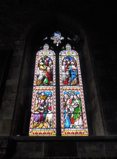 St Mary, Melton Mowbray: stained glass window (K)