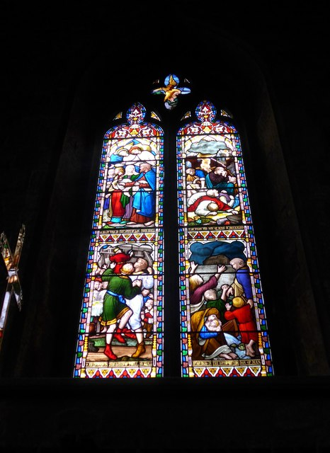 St Mary, Melton Mowbray: stained glass window (L)